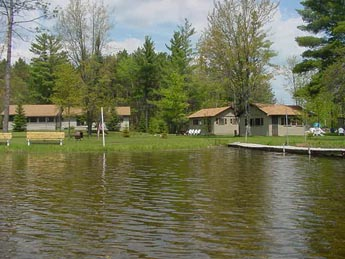 View of River Cabins from Thunderbay River